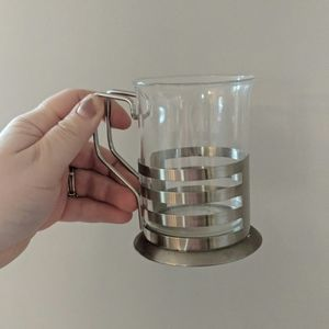 Vintage Set of 3 Stainless Steel Holiday Cup Mug